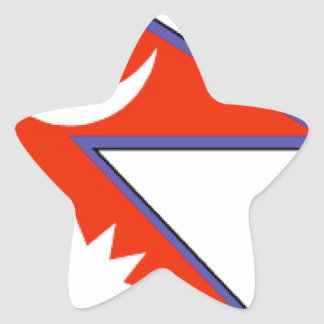 Nepal Star Stickers