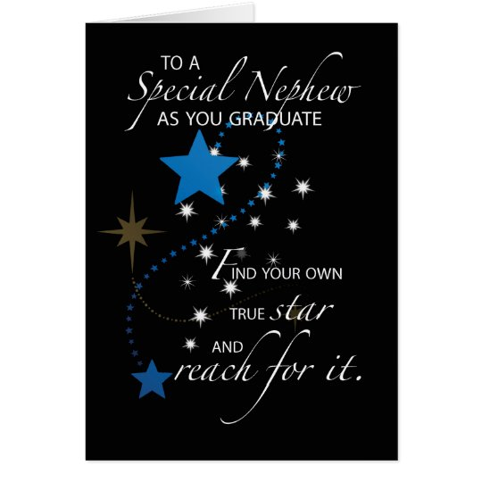 Nephew Graduation Star Card