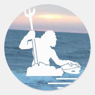 Neptune on the Sea Sticker