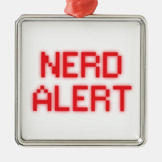 Nerd Alert Christmas Ornament