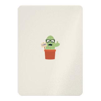 Nerd cactus 13 cm x 18 cm invitation card