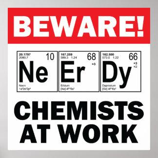 nerd elements-chemist at work sign
