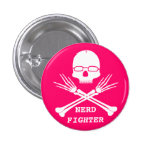 NERD FIGHTER, Customise colour (see description) 3 Cm Round Badge