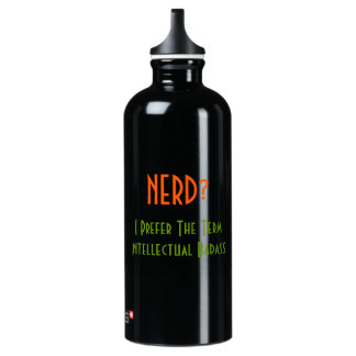 Nerd?.. Intellectual Badass | Funny Water Bottle SIGG Traveller 0.6L Water Bottle