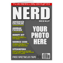 Nerd Personalised Magazine Cover Greeting Card