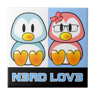 Nerd Valentine: Computer Geek Leet Speak Love Small Square Tile
