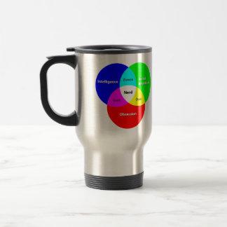 Nerd Venn Diagram Travel Mug