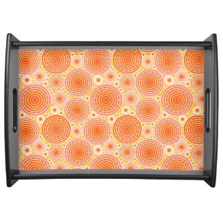 Nested wheels - orange and gold food trays