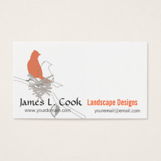 Nesting Birds Landscaping Event Planner Consultant Business Card