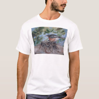 Nesting Robin Adult Tshirt
