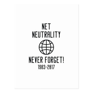Net Neutrality Never Forget Postcard
