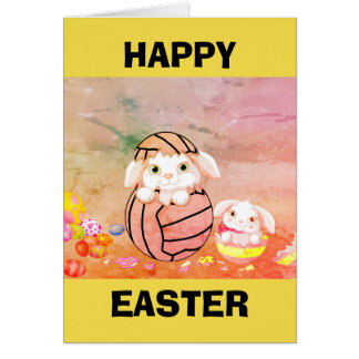Netball Themed Happy Easter Card