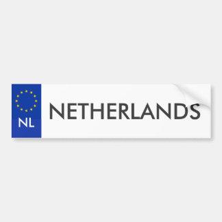 Netherlands Car License Sticker Bumper Sticker