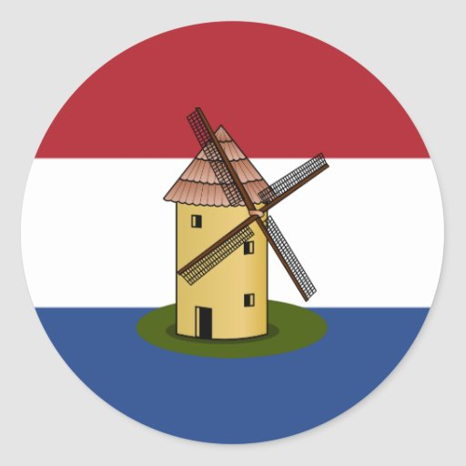 Netherlands Flag and Windmill Stickers