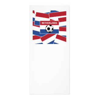 Netherlands Flag Football Rack Card Design