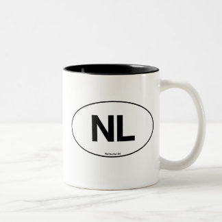 Netherlands Oval Two-Tone Coffee Mug