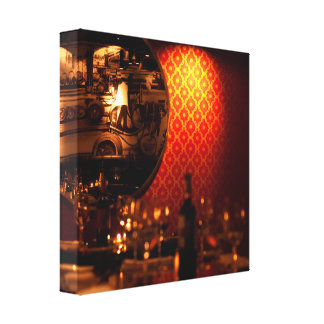 Network Wall and Dinner Table Canvas Print
