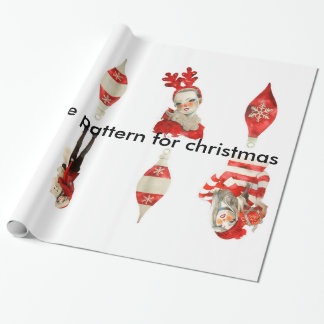 Network white pattern for Christmas Wrapping Paper