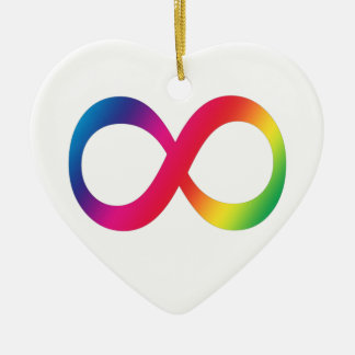 Neurodiversity Heart Simple Christmas Ornament