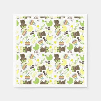 Neutral Baby Shower Pattern Paper Napkin