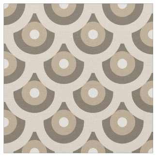 Neutral Beige Fish Scales Pattern Fabric