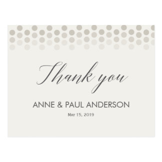 Neutral dots Thank You Card