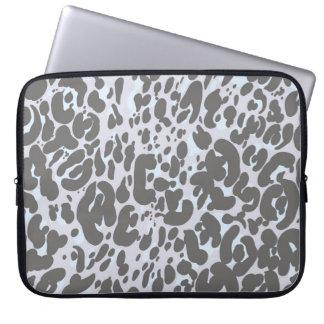 Neutral Leopard Print Laptop Sleeve