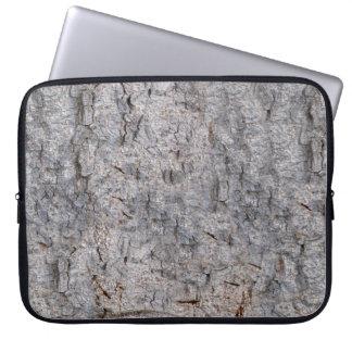 Neutral Tropical Tree Bark Photo Laptop Sleeve