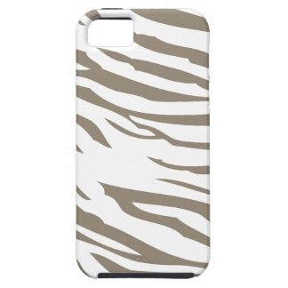 Neutral Zebra Print iPhone 5 Cover