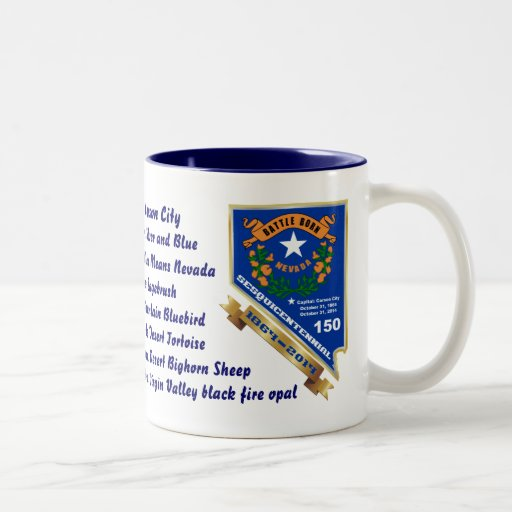 Nevada 150th anniversary View About Design Below Coffee Mugs
