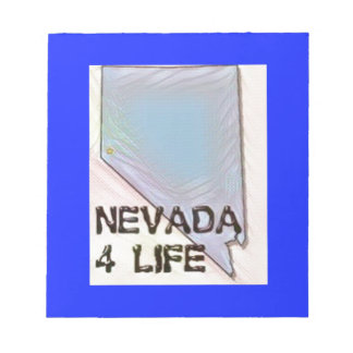 """Nevada 4 Life"" State Map Pride Design Notepad"