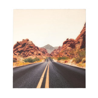 Nevada Mountains Road Highway Travel Landscape Notepad