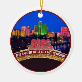 NEVADA Reno Christmas Ornament