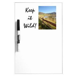 Nevada Wilderness White Board - Keep it Wild! Dry Erase Whiteboards