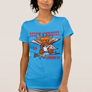 Never Apologize For Being An American AR15 M16 T-Shirt