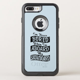 Never Bored ABOARD my SNOWBOARD (Blk) OtterBox Commuter iPhone 8 Plus/7 Plus Case