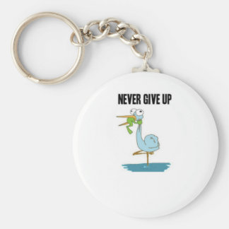 Never Give Up Insperational Design Key Ring