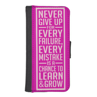 Never Give Up motivational cases
