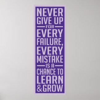 Custom Failure Motivational Posters & Photo Prints | Zazzle.co.nz