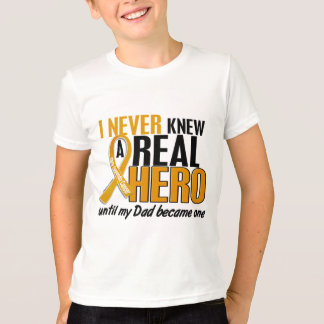Never Knew a Hero 2 Dad Appendix Cancer T-Shirt