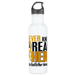 Never Knew a Hero 2 Godfather Appendix Cancer 710 Ml Water Bottle
