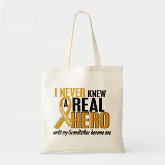 Never Knew a Hero 2 Grandfather Appendix Cancer Bags