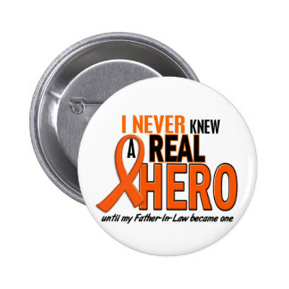 Never Knew A Hero 2 ORANGE (Father-In-Law) 6 Cm Round Badge
