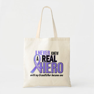 Never Knew A Hero Grandfather Esophageal Cancer Canvas Bags