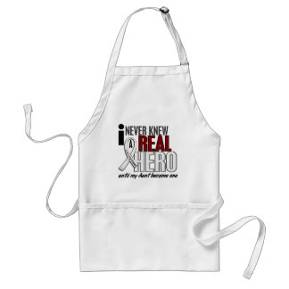 Never Knew A Real Hero 2 Aunt Lung Cancer Standard Apron