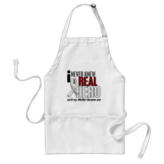 Never Knew A Real Hero 2 Mother Lung Cancer Standard Apron