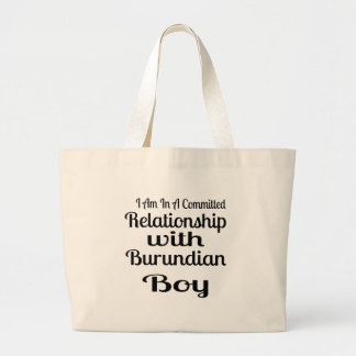 Never Underestimate Burundian  Daddy Large Tote Bag