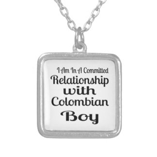 Never Underestimate Colombian Daddy Silver Plated Necklace