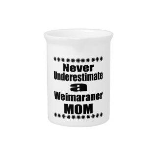 Never Underestimate Weimaraner Mom Pitcher