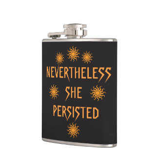 Nevertheless She Persisted Golden Sun Flask